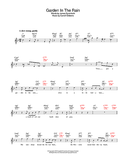 Diana Krall Garden In The Rain sheet music notes and chords. Download Printable PDF.