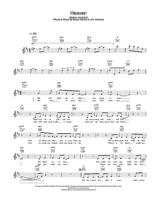DJ Sammy Heaven (piano version) sheet music notes and chords. Download Printable PDF.