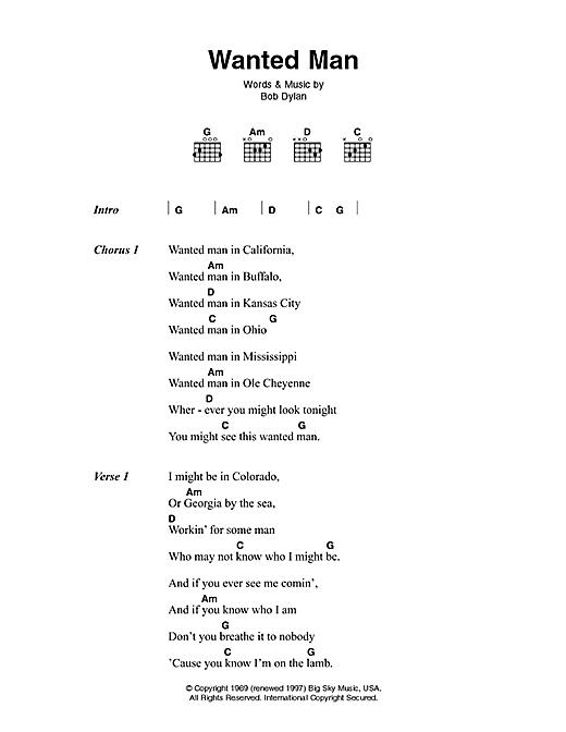 Johnny Cash Wanted Man Sheet Music Notes Chords Lyrics Chords Download Country 46399 Pdf Eu não pretendo fazer nada para ninguém, não há tempo. sheet music notes at musicnotesbox