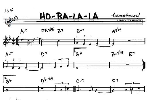 Norman Gimbel Ho-Ba-La-La sheet music notes and chords. Download Printable PDF.