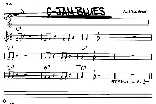 Duke Ellington C-Jam Blues sheet music notes and chords. Download Printable PDF.