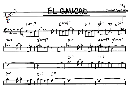 Wayne Shorter El Gaucho sheet music notes and chords. Download Printable PDF.