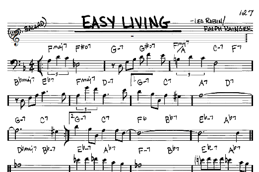 Billie Holiday Easy Living sheet music notes and chords. Download Printable PDF.