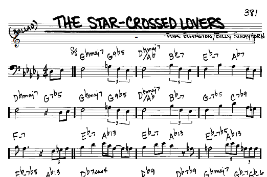 Duke Ellington The Star-Crossed Lovers sheet music notes and chords. Download Printable PDF.