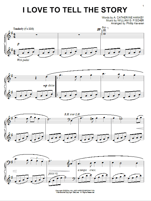 A. Katherine Hankey I Love To Tell The Story sheet music notes and chords. Download Printable PDF.