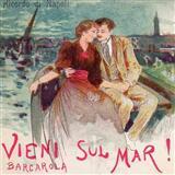 Download or print Italian Folksong Vieni Sul Mar Sheet Music Printable PDF -page score for Folk / arranged Piano SKU: 88517.