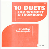 Download or print Arthur Frackenpohl 10 Duets For Trumpet And Trombone Sheet Music Printable PDF -page score for Unclassified / arranged Brass Ensemble SKU: 124834.
