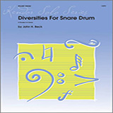 Download or print Beck Diversities For Snare Drum Sheet Music Printable PDF -page score for Unclassified / arranged Percussion SKU: 124779.