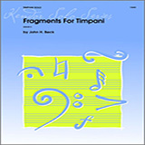 Download or print Beck Fragments For Timpani Sheet Music Printable PDF -page score for Unclassified / arranged Percussion SKU: 124741.