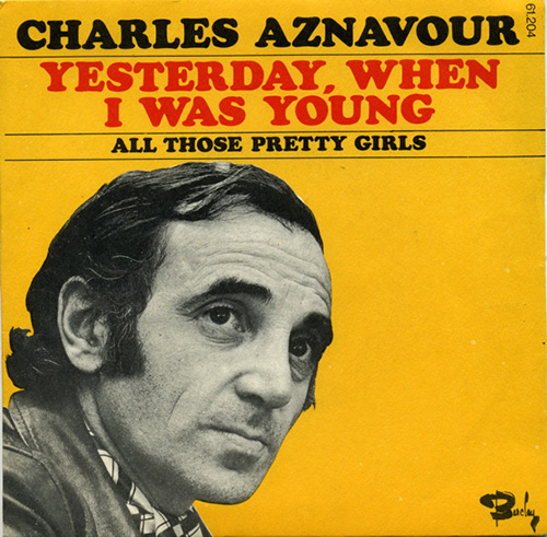 Easily Download Charles Aznavour Printable PDF piano music notes, guitar tabs for  Piano, Vocal & Guitar (Right-Hand Melody). Transpose or transcribe this score in no time - Learn how to play song progression.