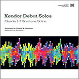 Download or print Donald M. Sherman Kendor Debut Solos - Baritone B.C. Sheet Music Printable PDF -page score for Unclassified / arranged Brass Solo SKU: 124994.