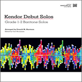 Download or print Donald M. Sherman Kendor Debut Solos - Baritone T.C. Sheet Music Printable PDF -page score for Unclassified / arranged Brass Solo SKU: 124989.