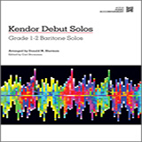 Download or print Donald M. Sherman Kendor Debut Solos - Baritone T.C. & B.C. - Piano Accompaniment Sheet Music Printable PDF -page score for Unclassified / arranged Brass Solo SKU: 125002.