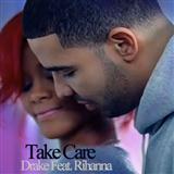 Download or print Drake Take Care (feat. Rihanna) Sheet Music Printable PDF -page score for R & B / arranged Piano, Vocal & Guitar SKU: 113083.