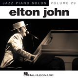 Download or print Elton John I Guess That's Why They Call It The Blues Sheet Music Printable PDF -page score for Rock / arranged Piano SKU: 151641.