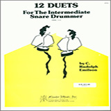 Download or print Emilson 12 Duets For The Intermediate Snare Drummer Sheet Music Printable PDF -page score for Unclassified / arranged Percussion Ensemble SKU: 124963.