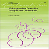 Download or print Halferty 10 Progressive Duets For Trumpet And Trombone Sheet Music Printable PDF -page score for Unclassified / arranged Brass Ensemble SKU: 124804.