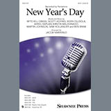 Download or print Jacob Narverud New Year's Day Sheet Music Printable PDF -page score for A Cappella / arranged TTBB SKU: 179903.