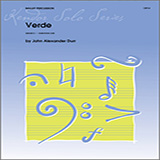 Download or print John Alexander Durr Verde Sheet Music Printable PDF -page score for Unclassified / arranged Percussion SKU: 125047.