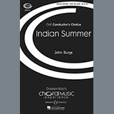Download or print John Burge Indian Summer Sheet Music Printable PDF -page score for A Cappella / arranged SATB SKU: 73346.