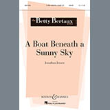Download or print Jonathan Jenson A Boat Beneath A Sunny Sky Sheet Music Printable PDF -page score for Festival / arranged Unison Choral SKU: 83008.