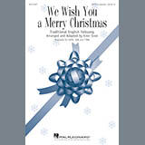 Download or print Kirby Shaw We Wish You A Merry Christmas Sheet Music Printable PDF -page score for A Cappella / arranged SATB SKU: 182444.