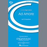 Download or print Lee Kesselman Ad Amore Sheet Music Printable PDF -page score for Festival / arranged TTBB SKU: 177581.