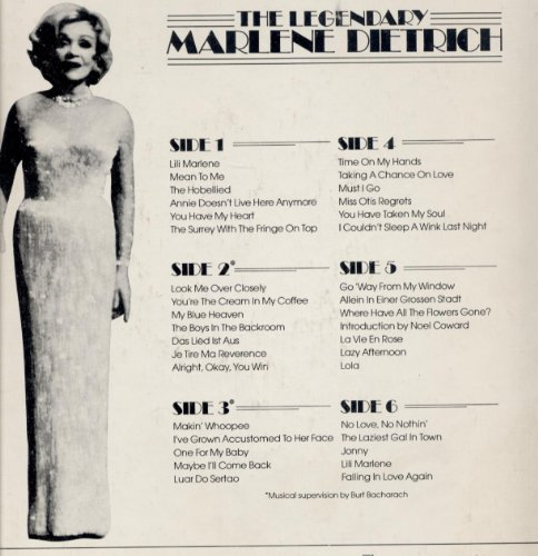 Easily Download Marlene Dietrich Printable PDF piano music notes, guitar tabs for  Piano, Vocal & Guitar (Right-Hand Melody). Transpose or transcribe this score in no time - Learn how to play song progression.