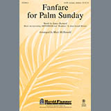 Download or print Mary McDonald Fanfare For Palm Sunday Sheet Music Printable PDF -page score for Concert / arranged Handbells SKU: 93625.