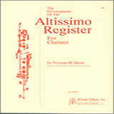 Download or print Norman Heim The Development Of The Altissimo Register For Clarinet Sheet Music Printable PDF -page score for Unclassified / arranged Instrumental Method SKU: 125072.