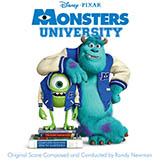 Download or print Randy Newman Main Title (Monsters University) Sheet Music Printable PDF -page score for Children / arranged Piano SKU: 99673.