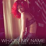 Download or print Rihanna What's My Name? (feat. Drake) Sheet Music Printable PDF -page score for Pop / arranged Piano, Vocal & Guitar (Right-Hand Melody) SKU: 77480.