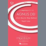 Download or print Rupert Lang Agnus Dei Sheet Music Printable PDF -page score for Concert / arranged Unison Choral SKU: 70894.