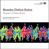 Download or print Salzman Kendor Debut Solos - Tuba - Piano Accompaniment Sheet Music Printable PDF -page score for Unclassified / arranged Brass Solo SKU: 124996.