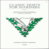 Download or print Schinstine Classic Duets For Marimba Sheet Music Printable PDF -page score for Unclassified / arranged Percussion Ensemble SKU: 124900.