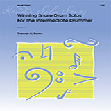 Download or print Tom Brown Winning Snare Drum Solos For The Intermediate Drummer Sheet Music Printable PDF -page score for Unclassified / arranged Percussion SKU: 125084.