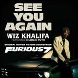 Download or print Wiz Khalifa See You Again (feat. Charlie Puth) Sheet Music Printable PDF -page score for Hip-Hop / arranged Piano, Vocal & Guitar (Right-Hand Melody) SKU: 121041.